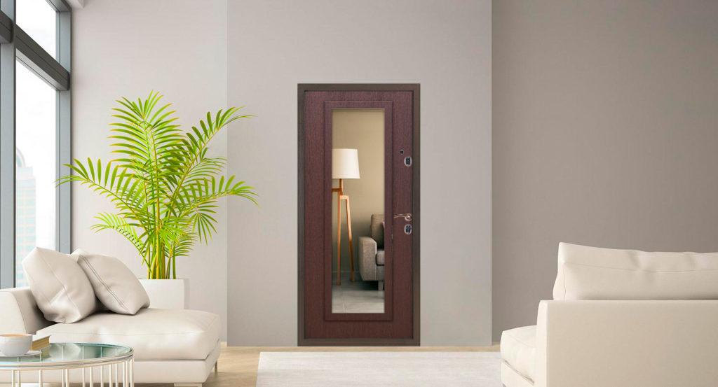 Дверь цвета венге в интерьере