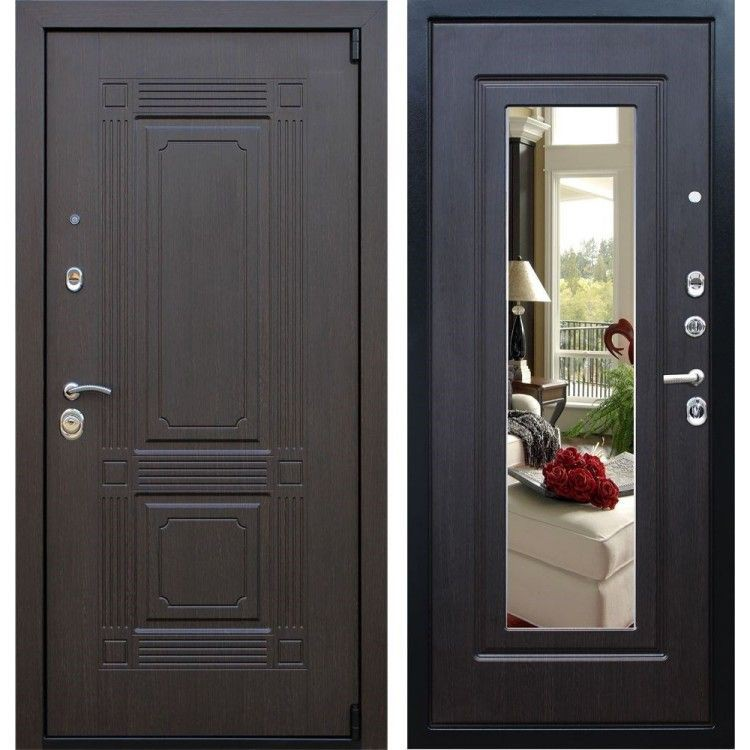 Железная дверь венге