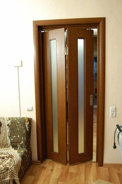 Внешний вид складной двери