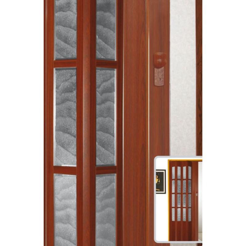 Дверь-гармошка со стеклом