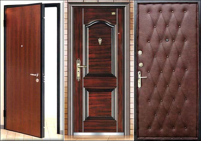 Варианты отделки железной двери