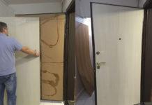 Замена МДФ облицовки двери