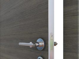 Дверь с кромкой из алюминия