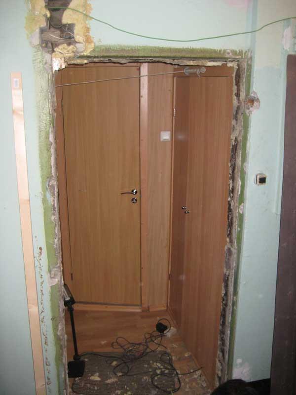Проем под входную дверь без двери