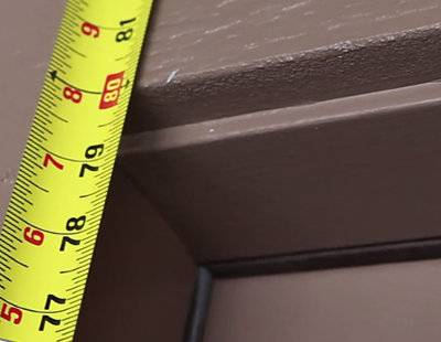 Измерение двери