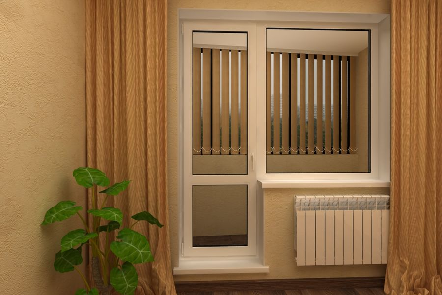 Балконный дверной блок