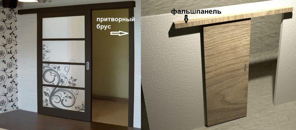 Части раздвижной двери