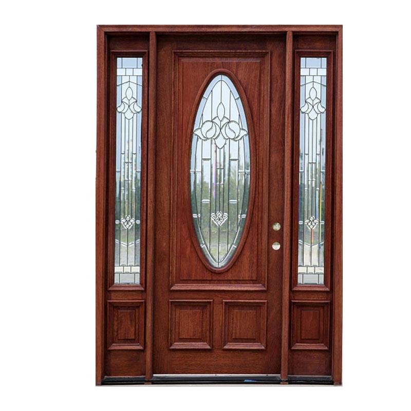 Деревянная дверь с остеклением