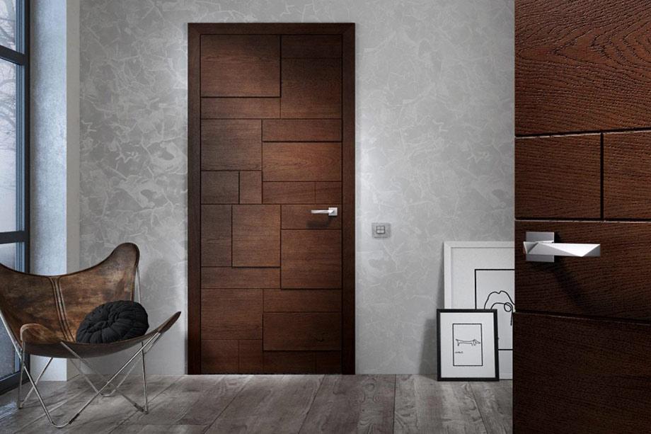 Дверь с фактурой древесины