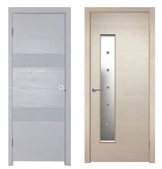 Двери из экошпона в Леруа