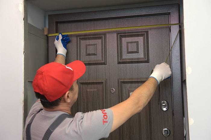 Измерение проема входной двери