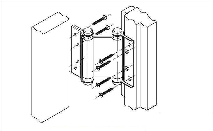 Схема установки барных петель