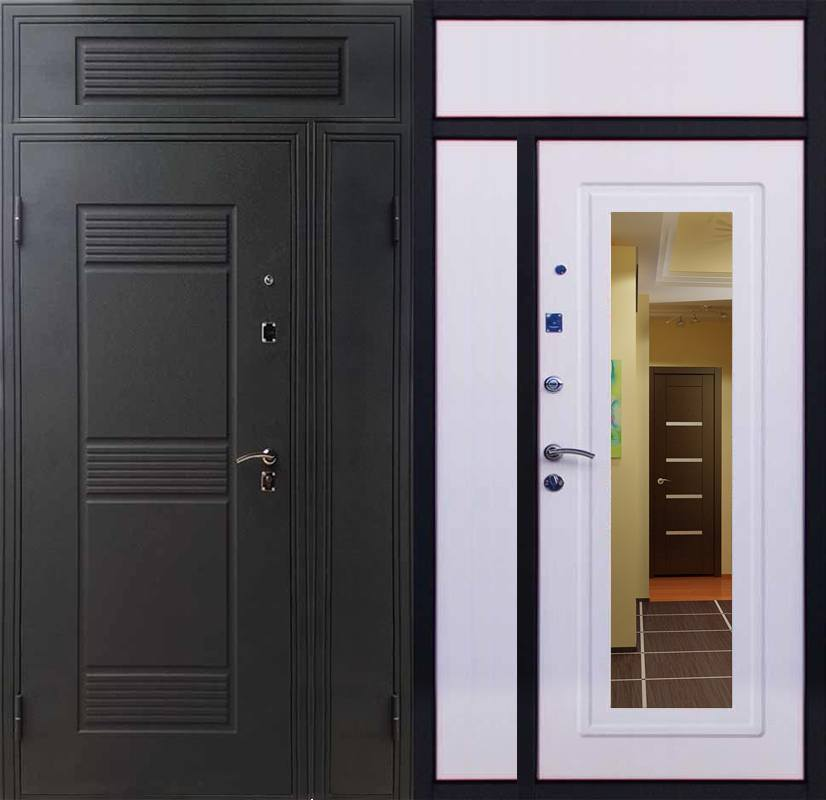 Двери с глухой фрамугой