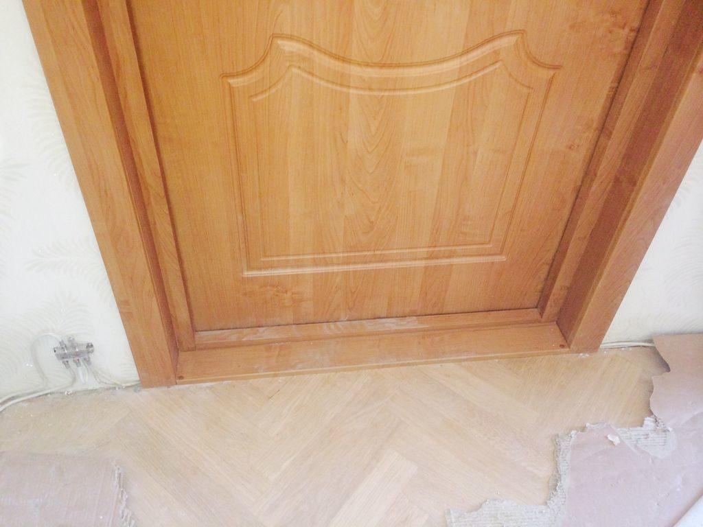 Межкомнатная дверь с порогом