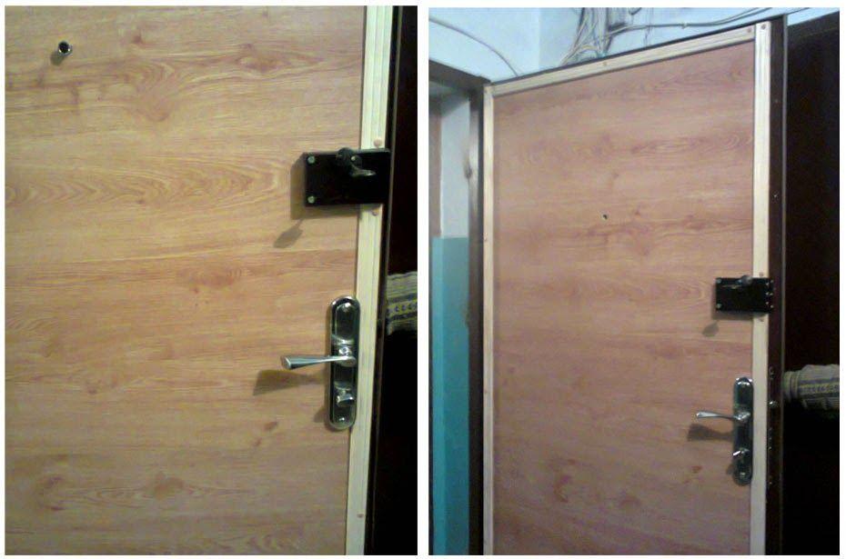 Дверь, отделанная ламинатом
