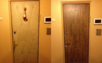 Отделка полотна входной двери