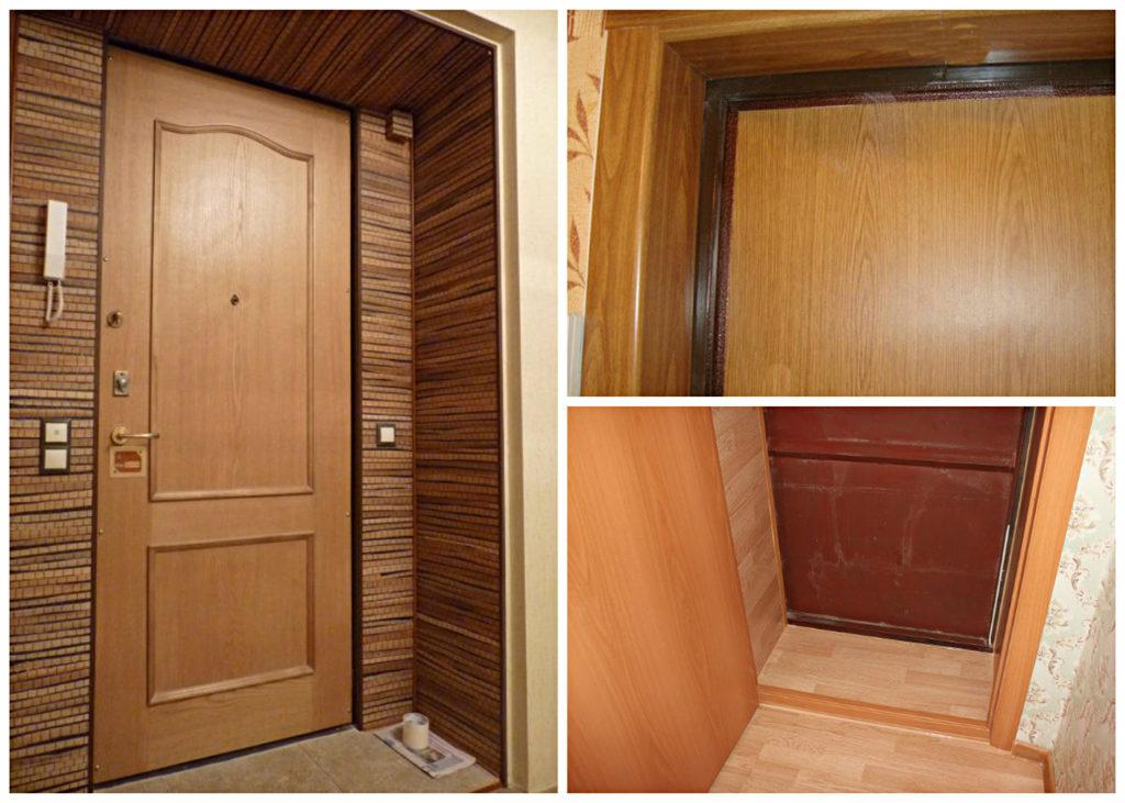 Вариант отделки проема металлической двери