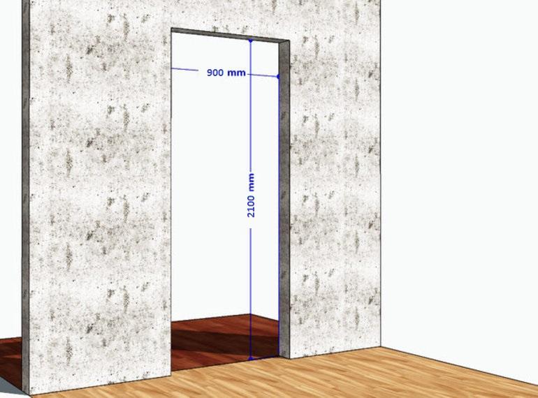 Стандартный проем входной двери