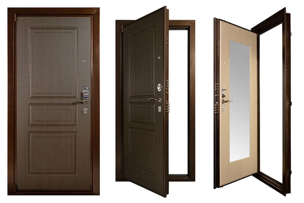 Дверь с коробкой из железа