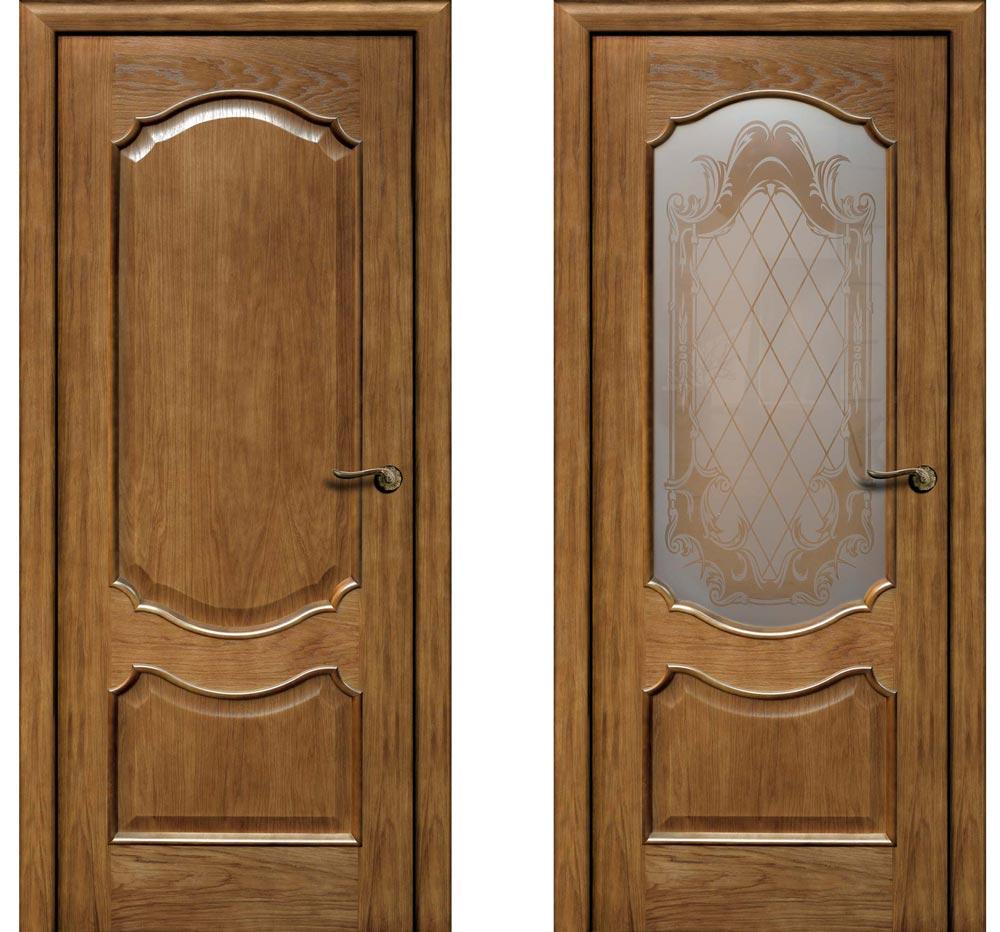 Дверь с покрытием из натурального шпона