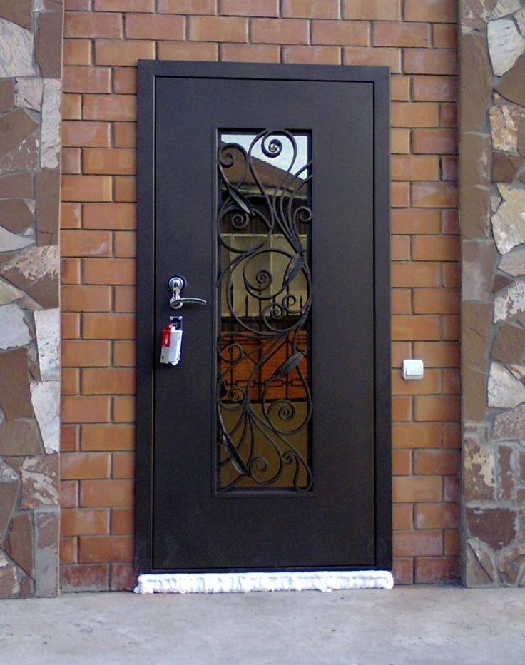 Одностворчатая дверь со стеклом