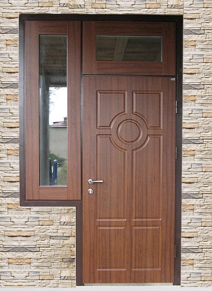 Дверь с комбинированной фрамугой