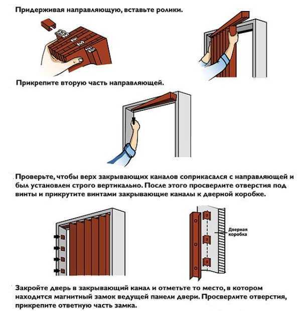 Инструкция монтажа двери-гармошки