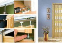 Процесс монтажа двери-гармошки