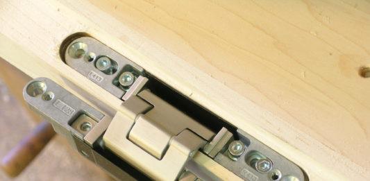 Скрытые петли для межкомнатной двери