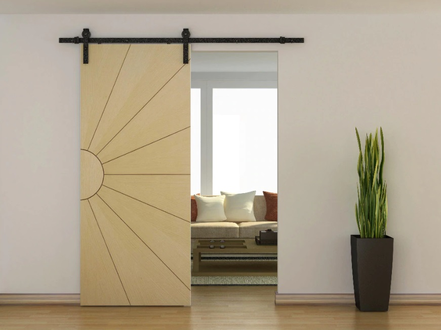 Внешний вид подвесной раздвижной двери