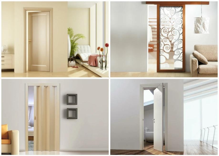 Раздвижные двери разного типа