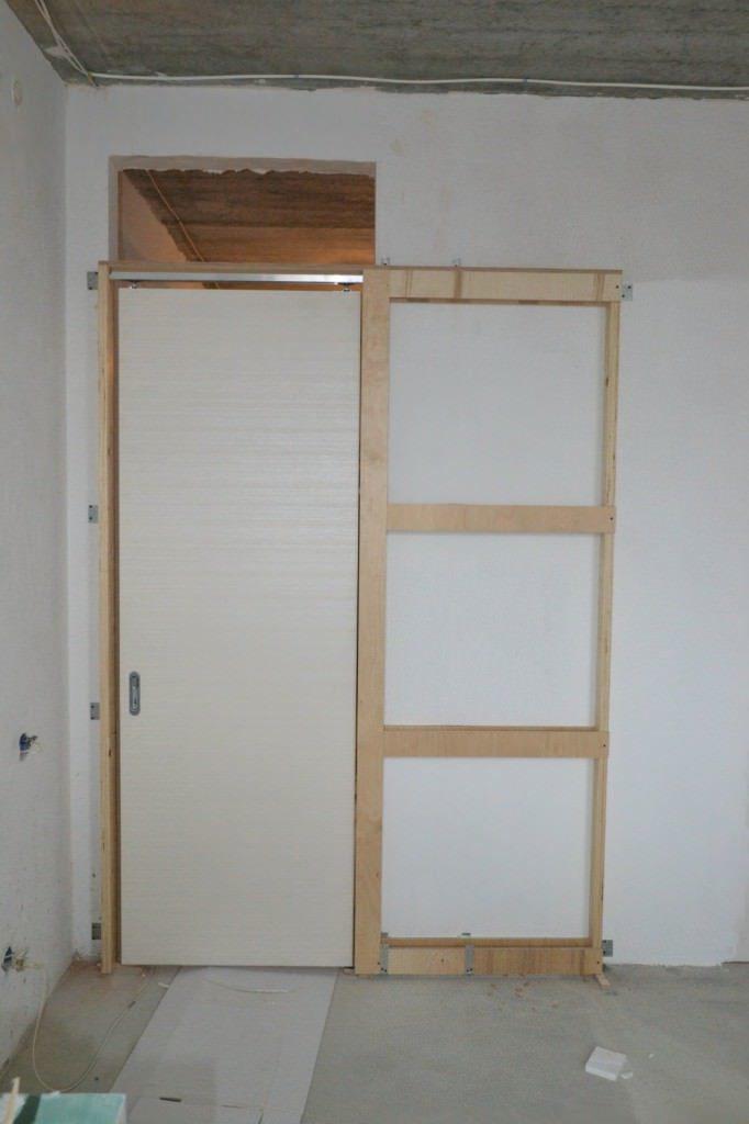 Скрытая раздвижная дверь