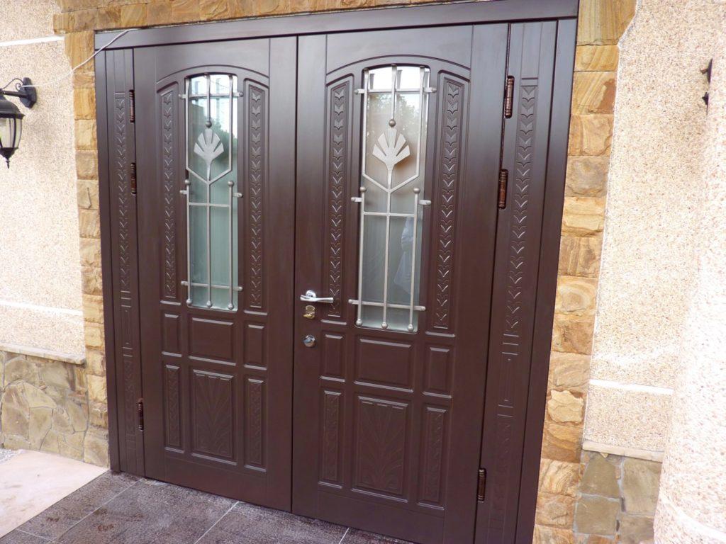 Двупольная дверь из металла