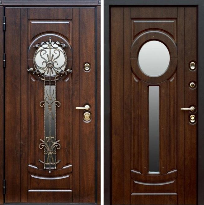 Модель двери с остеклением