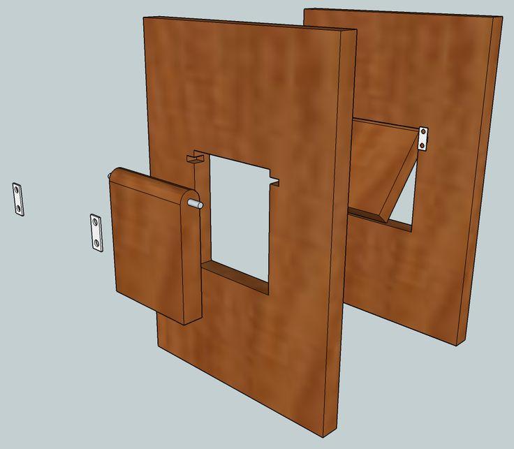 Конструкция двери для животных