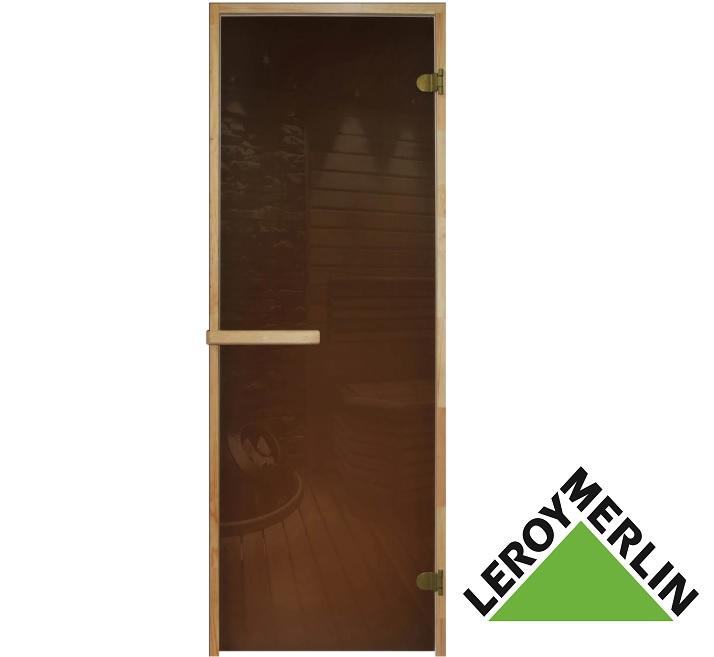 Стеклянная дверь для парной из Леруа Мерлен