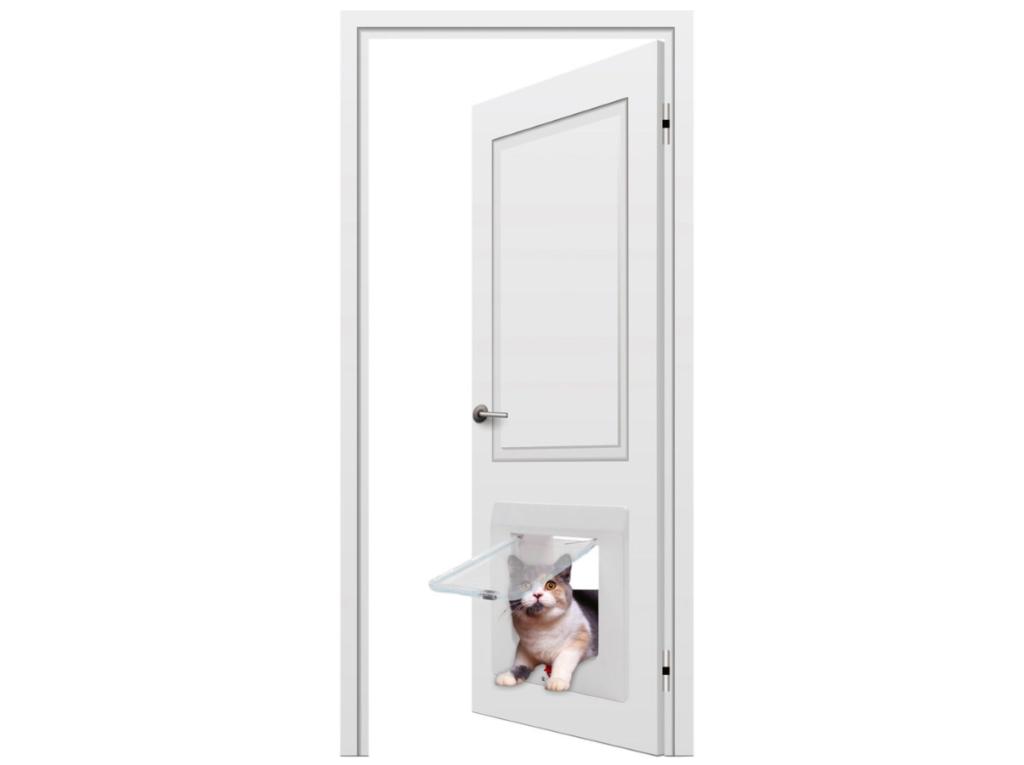Окно в двери для кота