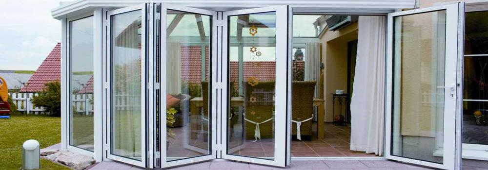 Дверь-гармошка для террасы
