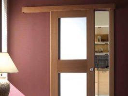 Раздвижная дверь между кухней и гостиной