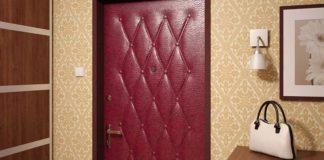Дверь, обшитая дермантином