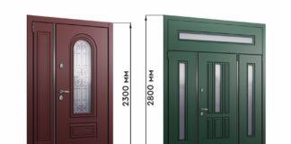Параметры дверей для частного дома