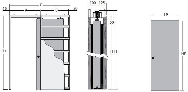 Схема скрытой двери
