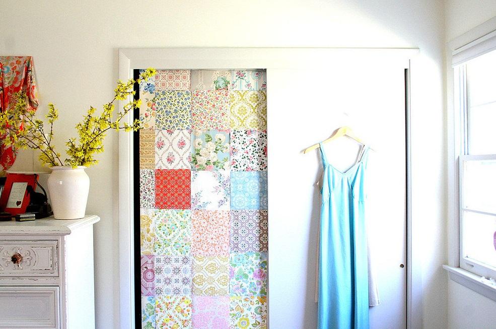 Ткань на двери