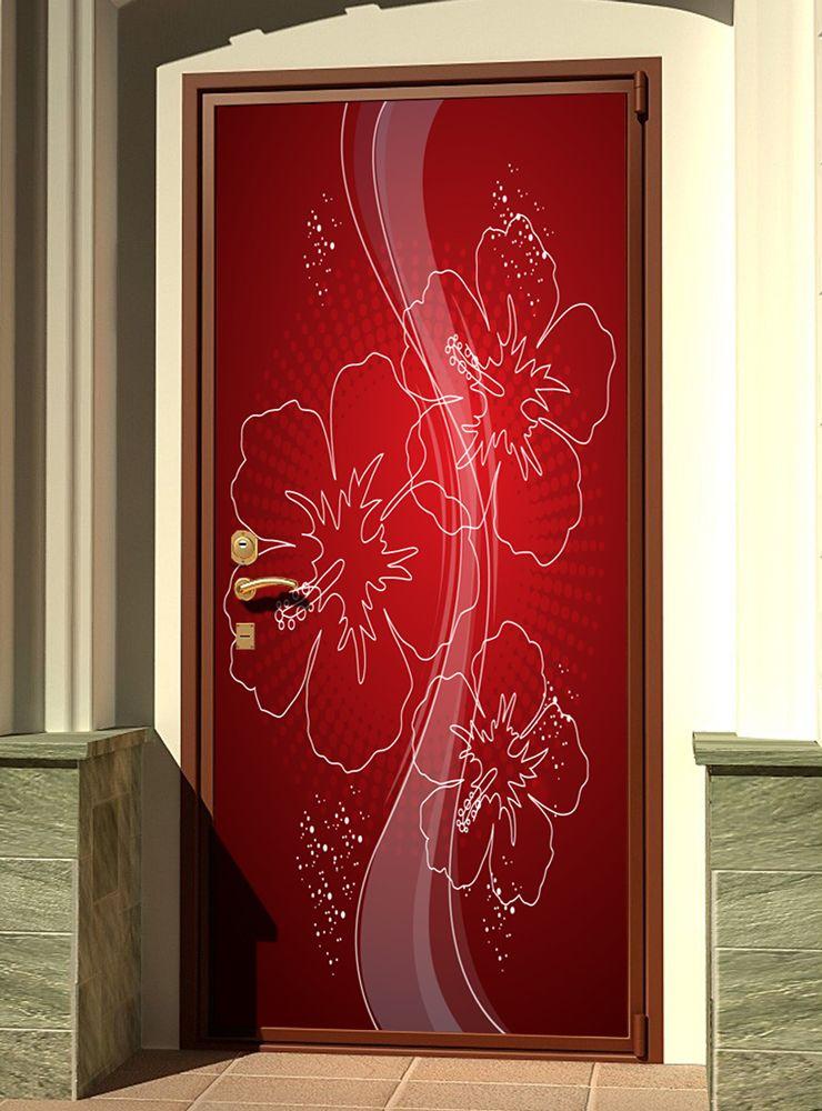 Вариант наклейки на входной двери